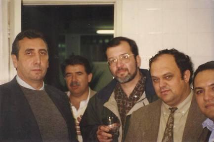 Equipe da Delegacia Seccional de Bragança Paulista no início da década de 90: Delegados de Polícia Paulo Roberto de Queiroz Motta, Roberto Toricelli, Marcelo Fabio Vita , Valmir Aparecido Guinato e Oswaldo Faria.