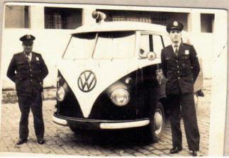 Viatura VW Kombi da extinta Guarda Civil do Estado de São Paulo, década de 60.