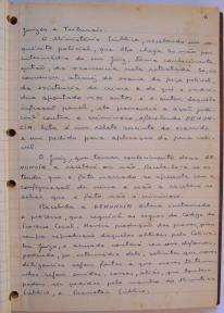 página 6 do manuscrito do Livro Investigação Policial do Delegado de Polícia Coriolano Nogueira Cobra, (enviada pelo Dr. Miguel Voigt Jr.)