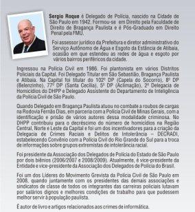 Delegado Sérgio Marcos Roque.