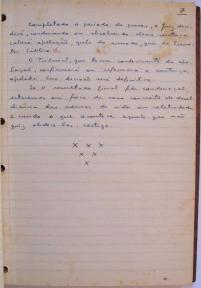 página 7 do manuscrito do Livro Investigação Policial do Delegado de Polícia Coriolano Nogueira Cobra, (enviada pelo Dr. Miguel Voigt Jr.)