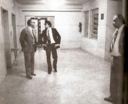 """Na foto, os lendários delegados Dante Mautoni, Sérgio Castro Pontes, o """"Cavaleiro Negro"""" e Sérgio Paranhos Fleury (créditos: livro """"autópsia do medo"""", de Percival de Souza)."""