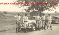 Guardas Rodoviários da extinta Polícia Rodoviária do Estado de São Paulo, da primeira Base Operacional de Lins, na Rodovia Marechal Rondon, em 1.956.