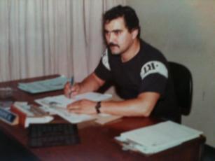 """Investigador de Polícia Mário Benedito Pinheiro, o """"Nazareth"""", em 1.979, trabalhou no GARRA e Divisão de Entorpecentes do DEIC."""