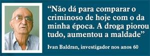 Chefe dos Investigador de São José do Rio Preto Ivan Baldran, na década de 60.