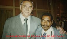 """O Reporter Policial Marcelo Resende e o saudoso Fotógrafo Policial do DEIC, Odil, """"Silvio Santos""""."""