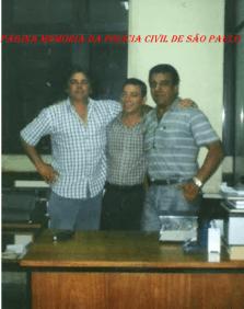 """Foto de 2.000 no DIPROCOM, Investigadores de Polícia Osmar Janucci, Cláudio Hilário """"Claudinho Português"""" e Osvaldinho Santos, que trabalharam da DISCCPAT- DEIC (Kilo), nas décadas de 70 e 80."""