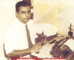 O Repórter Policial Geraldo Luiz Sacramento, na cidade de Limeira, em 1.988.
