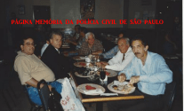 """FESTA NO DESERTO- REUNIÃO DOS CHEFES DE POLÍCIA MUNDIAL EM PHOENIX NO ARIZONA USA - ANO DE 1.996. À partir da esquerda, Delegados de Polícia Délcio Silmar Sampaio, Alberto Angerami, (?), Antônio Carlos de Castro Machado """"Dr. Caio"""" (Delegado Geral de Polícia) e o saudoso Vander Maia."""