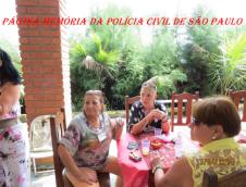 3º Encontro da Velha Guarda da Polícia Civil de São Paulo, ocorrido no 13 de abril de 2.014, no Recanto Pedro Cerignoni Bonamin, em Mairiporã/SP. à esquerda Investigadoras Elizabeth Damas e Regina; Valéria Breves Santos e Vera.