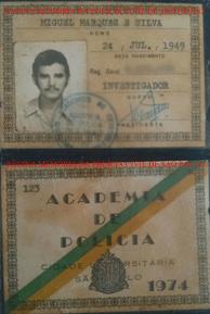 Carteira da ACADEPOL, do aluno do Curso de investigador de Polícia, Dr. Miguel Marques da Silva, atualmente Desembargador do Tribunal de Justiça do Estado de São Paulo.