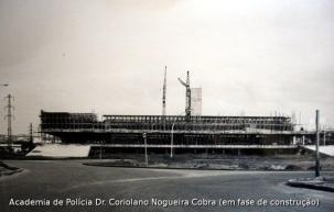 ACADEPOL em construção, no final da década de 70.