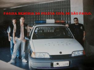 Alunos do Curso Técnico Profissional para Agentes Policiais da ACADEPOL, em 1.994. À direita, Alexandre Lopes, atualmente na Seccional de Piracicaba.