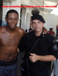 Aurisio Vieira de Melo Junior, Investigador de Policia do NECRIM da Seccional de Marília (DEINTER 4) com André Ramiro (Capitão Mathias) e Dudu Nobre, nas gravações do filme Tropa de Elite 2.