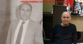 """Delegado de Polícia Carlos Alberto Costa """"Carioca"""", em 1.985, quando era Titular da 5ª Delegacia de Roubo a Bancos da DISCCPAT- DEIC e atualmente."""