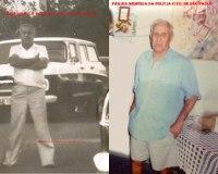 """O lendário Investigador de Polícia da DISCCPAT do DEIC (Kilo), nas décadas de 50, 60, 70, 80 e 90 Geraldo """"Jacareí"""", nas fotos na década de 70 e atualmente."""