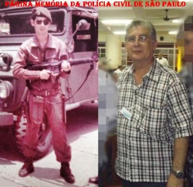 Investigador Walter de Matos, em 1.976 e atualmente.