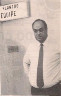 Delegado Nelson Silveira Guimarães, no DHPP, na década de 80.