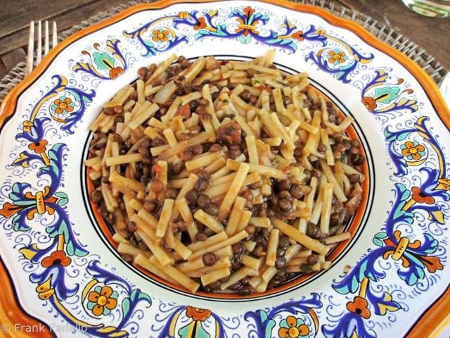 Angelina's pasta e lenticchie (Pasta and Lentils)