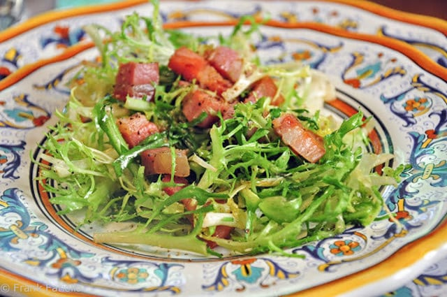 salade fris e aux lardons fris e salad with bacon memorie di angelina. Black Bedroom Furniture Sets. Home Design Ideas