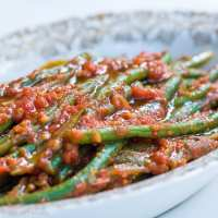 Fagiolini in umido (Green Beans in Tomato Sauce)