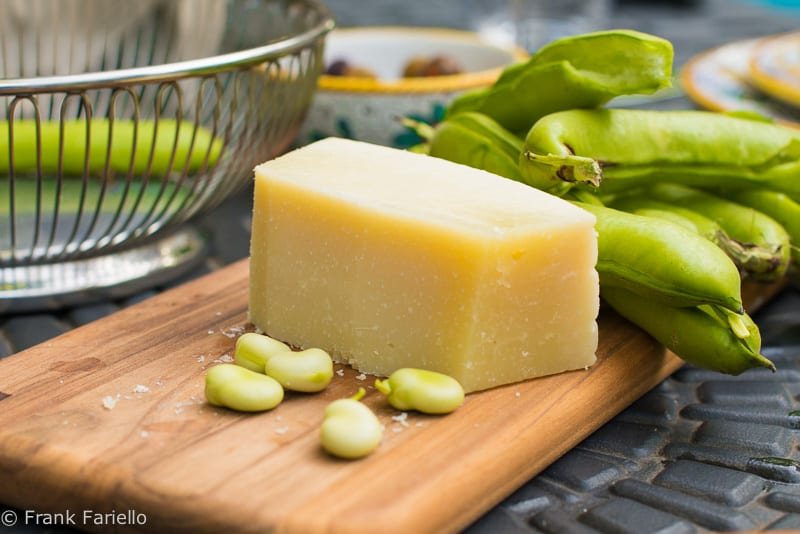 Fava Beans and Pecorino Cheese