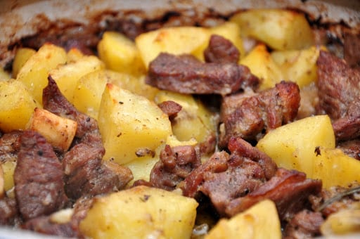 Agnello e patate al forno