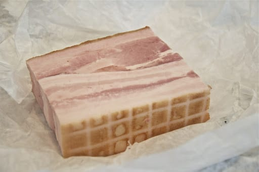 I bought this 'gypsy bacon' at a local Russian food store