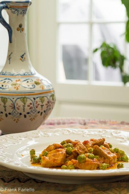 Spezzatino di vitello con piselli (Veal Stew with Peas)
