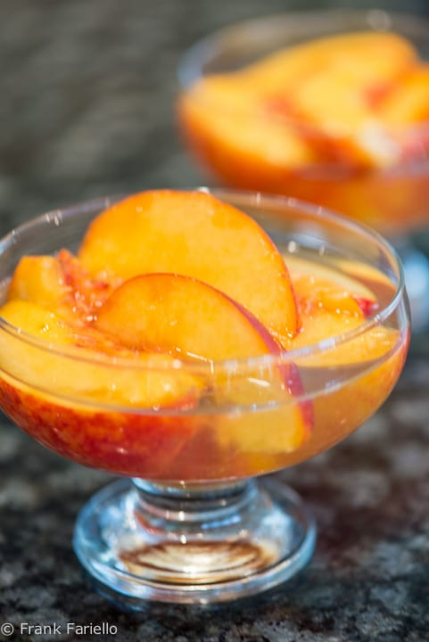 Peaches in White Wine