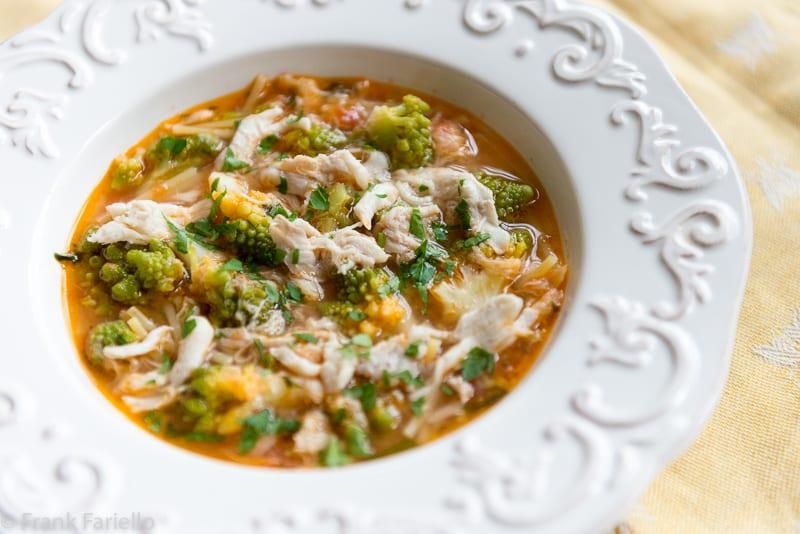 Minestra di broccoli e arzilla