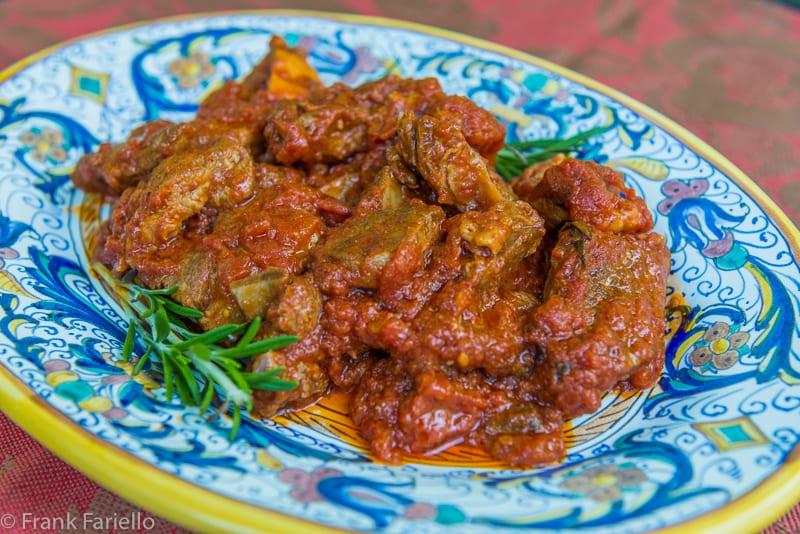 Agnello in umido (Lamb in Tomato Sauce)