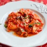 Baccalà in guazzetto (Roman Style Salt Cod in Tomato Sauce)