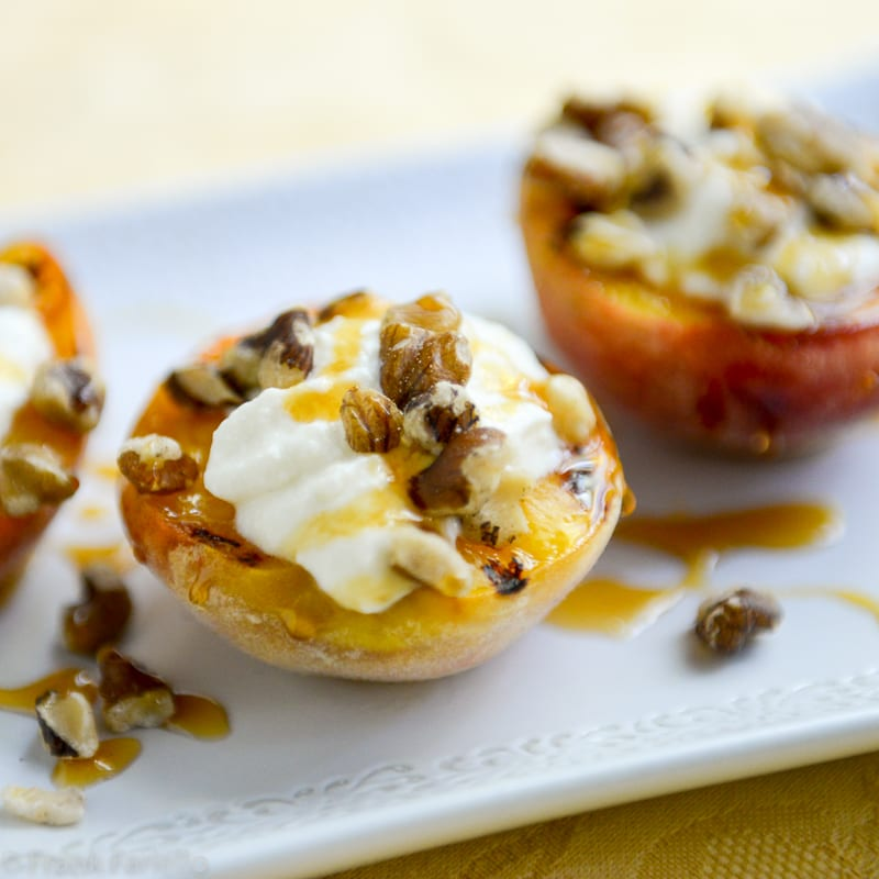 Pesche grigliate (Grilled Peaches)