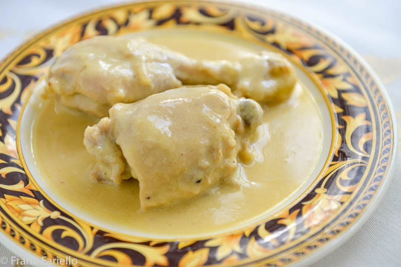 Pollo in fricassea (Chicken Fricassee)