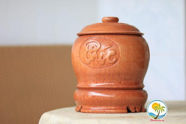 """Vỏ Giữ Ấm Bình Trà Điêu Khắc """"Phúc - Lộc - Thọ"""" Tinh Xảo Bằng Gỗ Dừa - Quà Tặng Trang Trí Handmade - Decor Craft Gifts Shop"""
