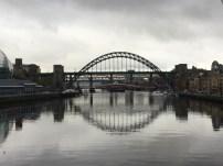 "Photo courtesy of Julie, the ""swing bridge"", Tyne bridge in background"