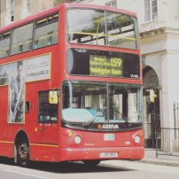 Traditional Red Bus in London- London (Greater London),England,Great Britain