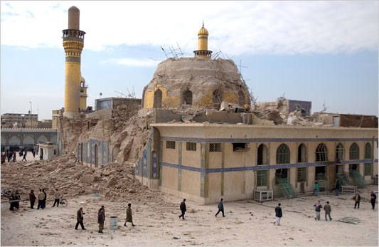 The attack on Samarra's al-Askariya shrine set off violence between Sunnis and Shiites. Photo Courtesy of CNN