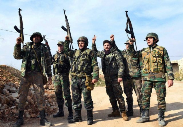syrian troops