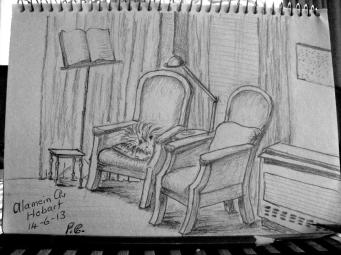 Sketch of the lounge chairs