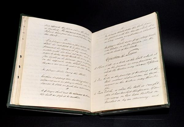 Original football association rule book from 1863 (British Museum)