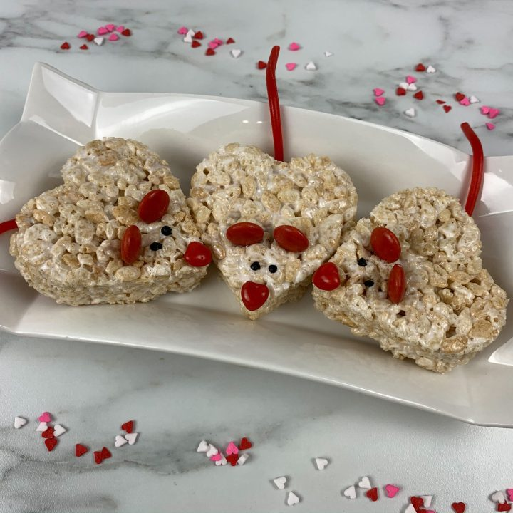 Valentines Rice Krispies Treats: Mice Krispies Treats