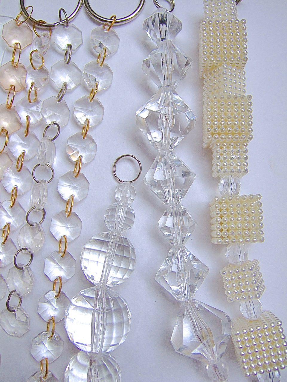 Acrylic White Crystal Beads  Memories of a Butterfly