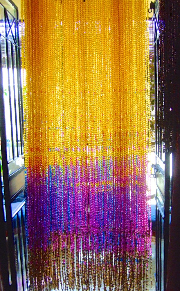 Champagne Gold Acrylic Crystal Bead Curtain  Memories of