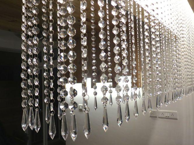 Hexagonal Acrylic Crystal Chandelier
