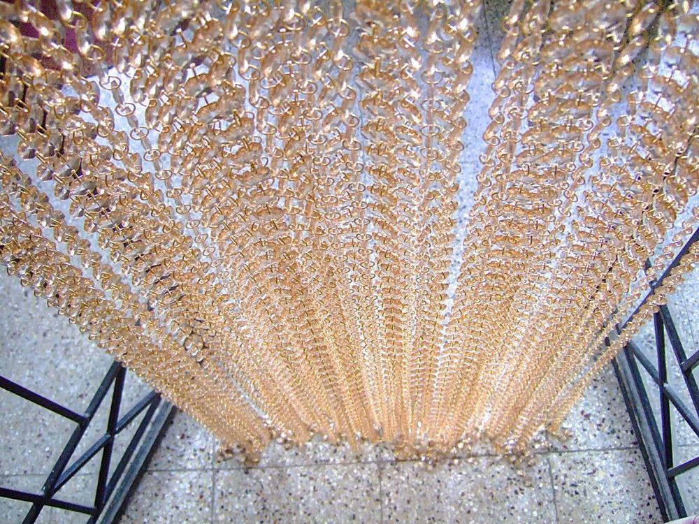 Glass White Hexagonal Crystal Beaded Curtain  Memories of