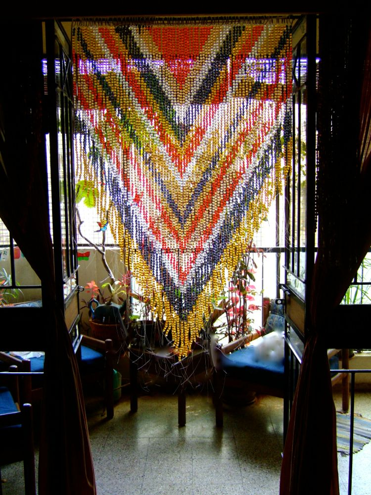 Memories Of a Butterfly  Beaded Curtain  Readymade