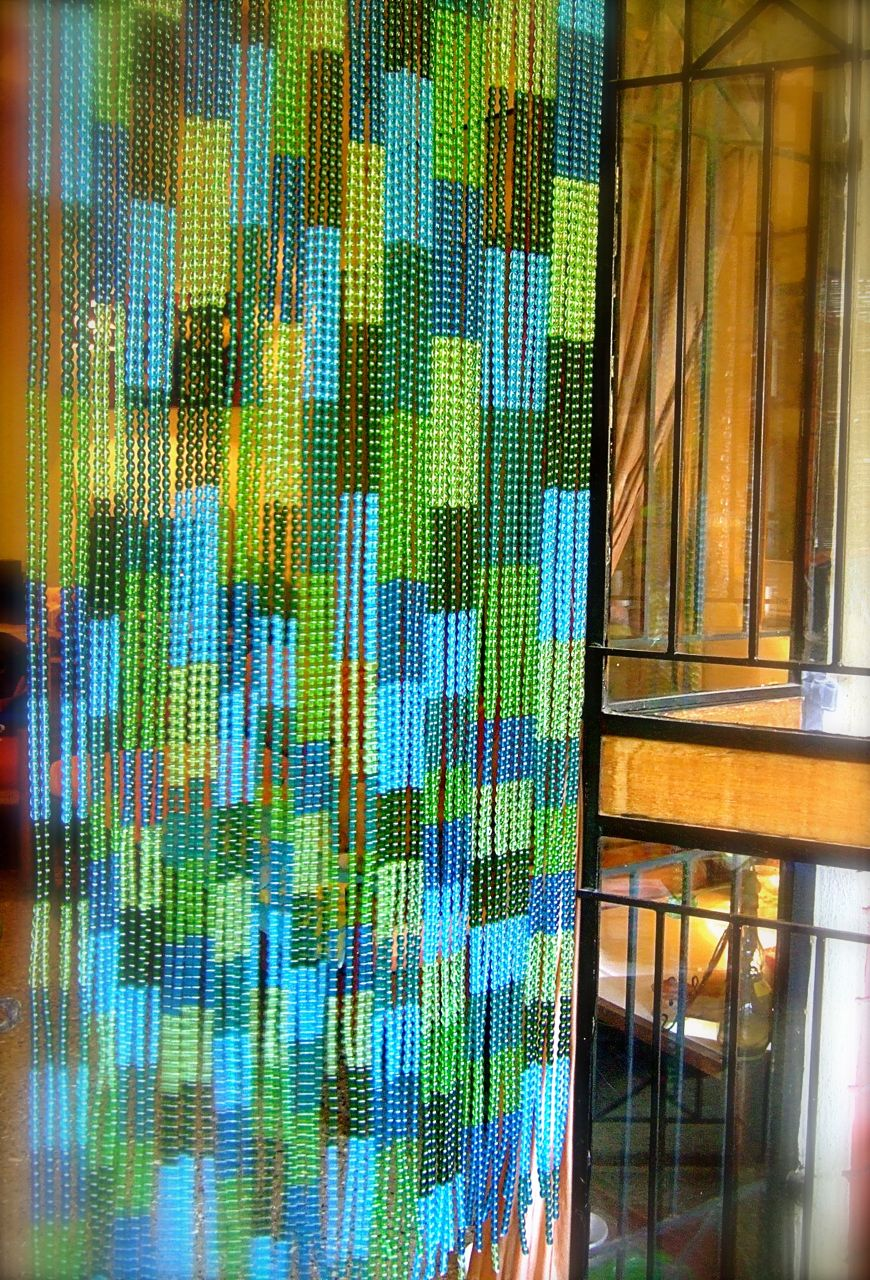 BlueGreen Mosaic Factory Glass Beaded Curtain  Ready