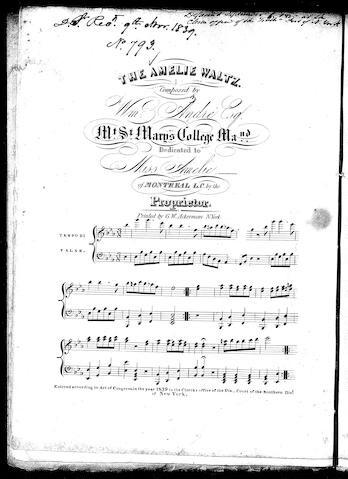 The Amelie waltz / [sheet music]:Print Material